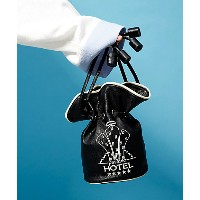 <PAMEO POSE> HOTEL PARASIO DROWSTRING POUCH BAG(231711900001) BLACK バッグ~~ハンドバッグ