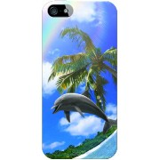【送料無料】 Dolphin Rainbow B design by DMF / for iPhone SE/5s/docomo 【Coverfull】【スマホケース】【ハードケース...