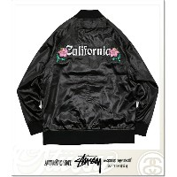STUSSY CALIFORNIA SATIN JACKET (JACKET)(17S115324-BK)