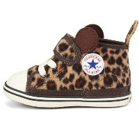 CONVERSE(コンバース) CONVERSE BABY ALL STAR N MINILEOPARD V-1 7CK438 BROWN(ブラウン) キッズ 子供靴 ハイカット 6(13cm)