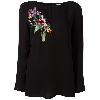 Etro bird embroidered blouse
