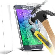 Samsung Galaxy Alpha LCD Tempered Glass Screen Protector. Protect your screen with the highest...