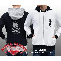 【SKULL FLIGHT/スカルフライト】パーカー/SKULL FLIGHT FULL ZIP PARKA 17-01★REAL DEAL