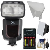 Xit エリート Series デジタル Power Zoom AF フラッシュ with Batteries & Charger + Softbox + Bounce Reflector キット...