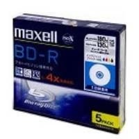 maxell 録画用 1-4倍速ブルーレイディスク 片面1層 追記型 130分 プリンタブル 5枚パック 1枚ずつケース入り BDR25VPWB.S1P5S