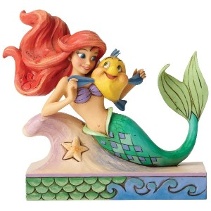 Roll over image to zoom in Enesco Disney Traditions Ariel with Flounder