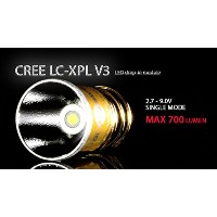 【Gold Label】 SOLARFORCE ソーラーフォース LC-XPL V3 (Single modes, 2.7 - 9V) Cree VP-L 白色 Cool White LED交換球