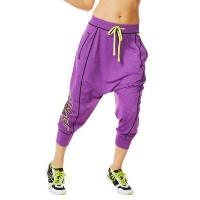 Zumba (ズンバ) Let's Go Halfsies Harem Pants/Purple/M [並行輸入品]