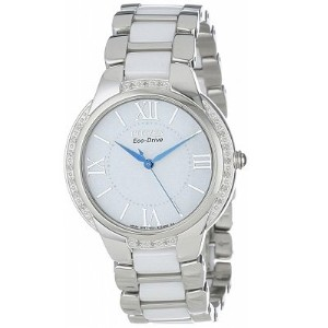 CITIZEN[シチズン] MODEL NO.em0170-50a Eco-DriveCiena Ceramic Diamond Accented Watch シチズン エコドライブ 海外モデル...