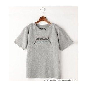 Double name別注METALLICA/半袖Tシャツ【ダブルネーム/DOUBLE NAME レディス Tシャツ・カットソー 杢グレー ルミネ LUMINE】