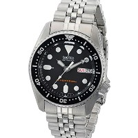 セイコー Seiko SKX013K2 Black Dial Automatic Divers Midsize Watch 男性 メンズ 腕時計 【並行輸入品】