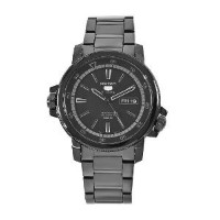 Seiko Men's SNZJ67 Seiko 5 Stainless Steel Black Dial Watch【並行輸入】