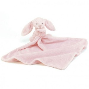 Jellycat Beginnings Pink Bunny Soother Color: Pink Bunny Model: SOB444P by Toys & Child