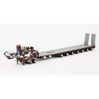 Drake 2x8 Dolly and 7x8 Steerable Low Loader Trailer in Burgundy トレーラー /DRAKE 建設機械模型 工事車両 1/50 ミニチュア