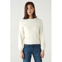 【AZUL by moussy】フェレットタッチニットプルオーバー AZUL by moussy / アズール バイ マウジー【MARKDOWN】
