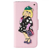 (ケイトスペード) KATE SPADE DISNEY MISS PIGGY COLLECTION APPLIQUE FOLIO IPHONE 7 CASE 8ARU1745 PINK MULTI...