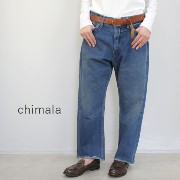 chimala(チマラ)13OZ BROWN COTTON NEP SELEDGE DENIMVINTAGE BAGGY CUTmade in japancs23-wp03a-f