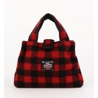 JOHNSON WOOLEN MILLS:BITTY BAG(RED)【シップス/SHIPS ハンドバッグ】