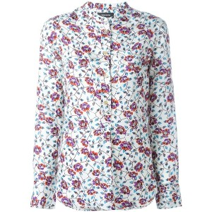 Isabel Marant - floral blouse - women - シルク - 42