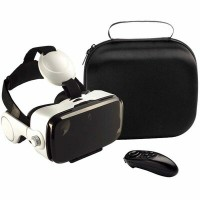 VR ヘッドセットBOBO VR Z4トリガー、ヘッドフォン、リモートコントロール、トラベルバッグ付きVirtual Reality Headset Fit for iPhone Android...