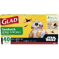 Glad Sandwich zipper bags Star Wars