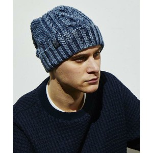 【attack the mind 7】【予約販売10月入荷予定】SBID025-CT01-Cable knit cap INDIGOISM ニットキャップ