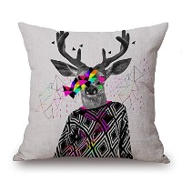 Deer Throw Cushion Covers 18 X 18 Inches / 45 By 45 Cm For Play Room,kids Girls,son,home,kids Room...