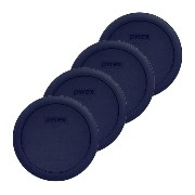 Pyrex Blue 4 cup Round Plastic Cover by Kitchen Storage