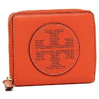 (トリーバーチ) TORY BURCH トリーバーチ 財布 TORY BURCH 36729 818 PERFORATED LOGO MEDIUM ZIP WALLET 二つ折り財布 SPICE...