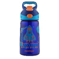 Contigo Autospout Kids Striker Water Bottle, 14-Ounce, 水筒 ブルー ロケット 420ml