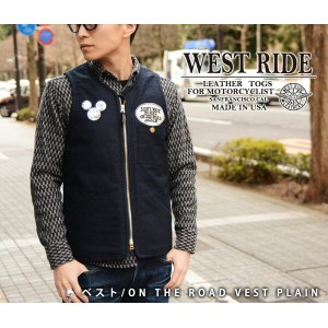 【WESTRIDE/ウエストライド】ベスト/ON THE ROAD VEST PLAIN★REAL DEAL