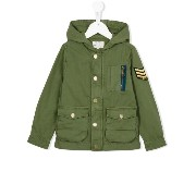 Zadig & Voltaire Kids military patch hooded jacket
