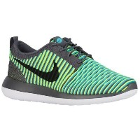 (取寄)ナイキ メンズ ローシ 2 フライニット Nike Men's Roshe Two Flyknit Dark Grey Gamma Blue Volt Black