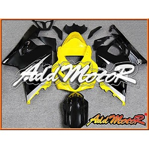Addmotor Injection Mold Fairing フィット GSX-R600 GSX-R750 2004 2005 K4 イエロー S7417 (海外取寄せ品)