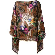 Etro - floral print blouse - women - シルク/wood/glass - ワンサイズ