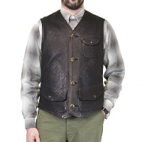 FREEWHEELERS フリーホイーラーズ BRIDGEPORT OUTDOOR STYLE HUNTING VEST GREAT LAKES GMT. MFG.CO. BLACK DEER...