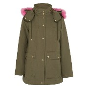 Jクルー J.Crew レディース アウター コート【Collection faux fur-trimmed cotton-canvas parka】