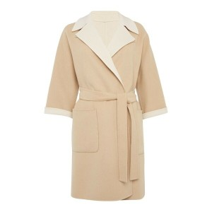 マックスマーラ レディース アウター コート【Max Mara HOBBY wool coat with belt and collar】Beige