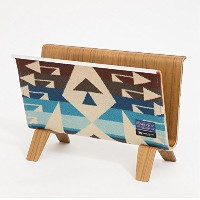 【PENDLETON x MADE BY SEVEN -REUSE-】PLYWOOD MAGAZINE RACK マガジンラック (BIG THUNDER・BLUE) / 20160864