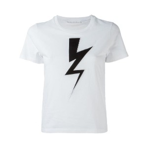 Neil Barrett - Lightning Bolt Tシャツ - women - コットン - L