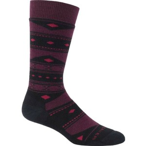 アイスブレーカー Icebreaker メンズ インナー ソックス【Lifestyle Baujacq Medium Over the Calf Sock】Black/Redwood/Oxblood