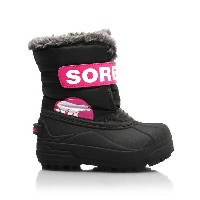 ★SOREL 〔ソレル ジュニアスノーブーツ〕 Children's Snow Commander NC1877/012 〔BLACK HAUTE PINK〕〔z〕