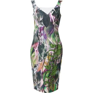 Martha Medeiros - foliage Raissa dress - women - リネン/ビスコース - 42