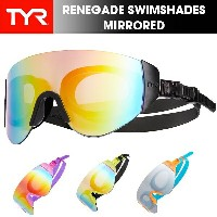 TYR(ティア) RENEGADE SWIMSHADES MIRRORED スイミングゴーグル(水中メガネ/水遊び/紫外線防止)