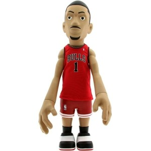 おもちゃグッズ Toys and Collectibles おもちゃ 【MINDstyle x NBA Derrick Rose 18 Inch Figurine - Away Jersey 】