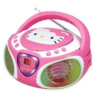 Hello Kitty AM / FMラジオとLEDライトショー付きハローキティCDブームボックス CD Boombox with AM/FM Radio and LED Light Show ...