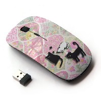 KOOLmouse [ ワイヤレスマウス 2.4Ghz 無線光学式マウス ] [ Purr Kitten Vintage Quilted ]