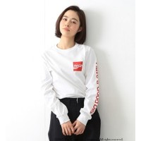 Coca-Cola & Fruit of The Loom by BEAMS BOY / プリント ロングスリーブ Tシャツ【ビームス ウィメン/BEAMS WOMEN Tシャツ・カットソー】