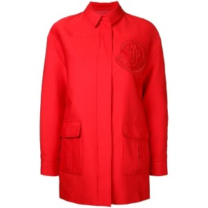 Moncler Gamme Rouge - single breasted coat - women - コットン - 4