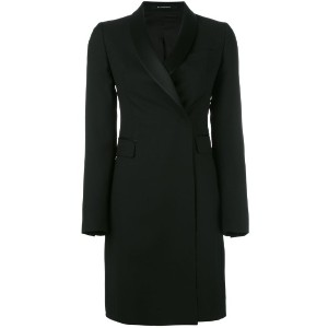 Tagliatore - fitted tuxedo coat - women - キュプロ/バージンウール - 50